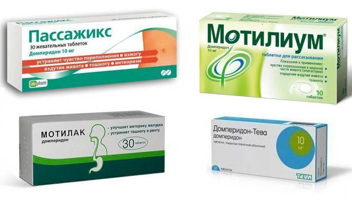 Лекарства, стимулирующие моторику желудочно-кишечного тракта