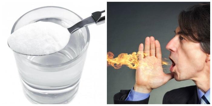 Соду от изжоги можно применять только в редких случаях