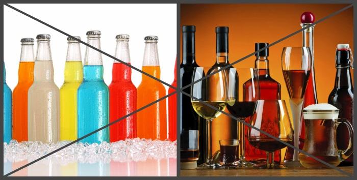 Лимонад и спиртные напитки употреблять при изжоге нельзя