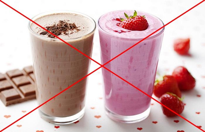 Молочные коктейли могут спровоцировать приступ изжоги