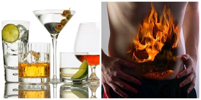 После употребления алкоголя может появиться изжога