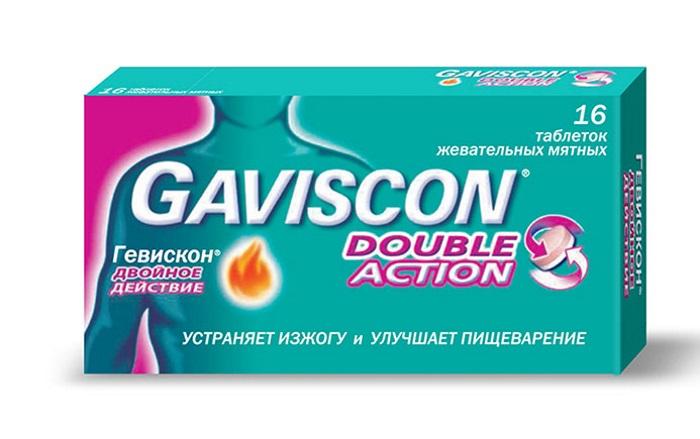 Жевательные таблетки Гевискон