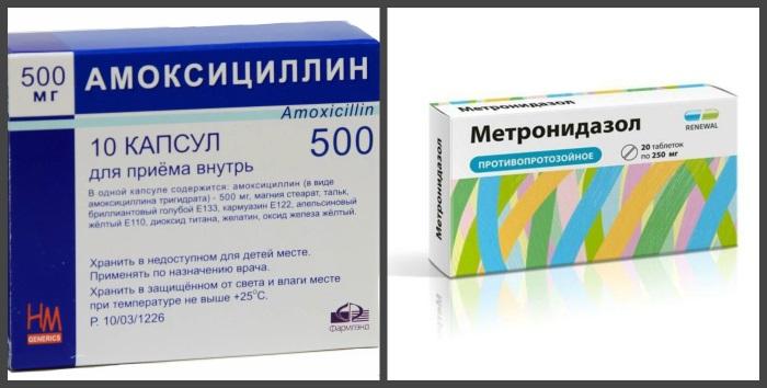 Антимикробные средства, применяемые для лечения хеликобактереиоза