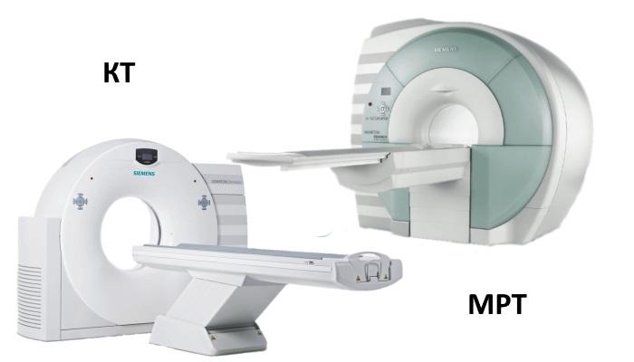 Отличие КТ и МРТ состоит в разных физических явлениях, которые используются в аппаратах