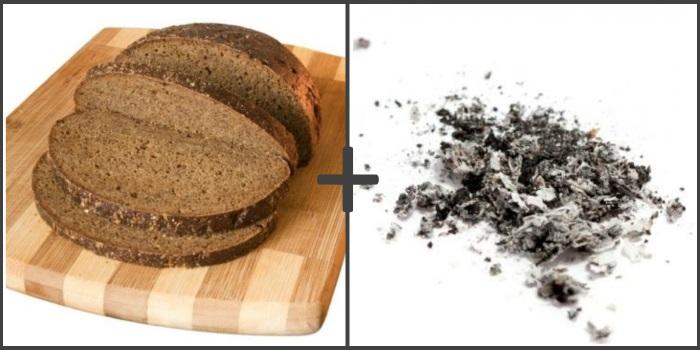 Применение пепла с черным хлебом при изжоге